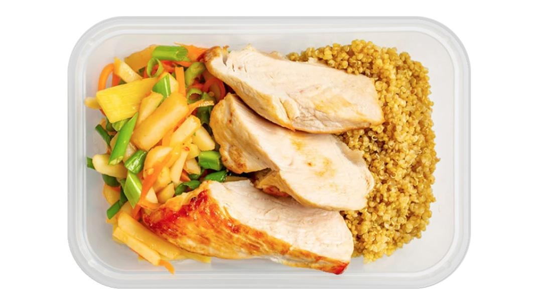 Sweet and Sour Turkey Breast with Carrot and Bamboo Stir Fry