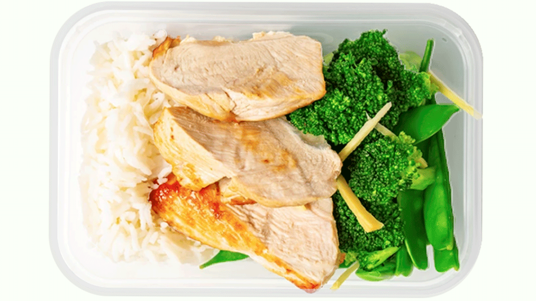Lemongrass and Ginger Turkey Breast with Thai Green Vegetables