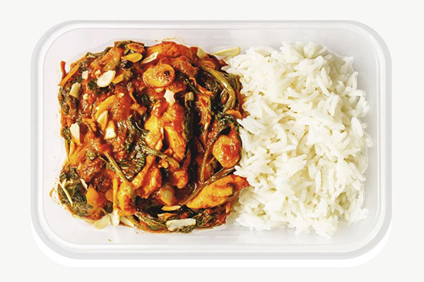 Chicken Madras with Almonds