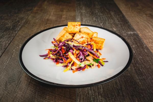Chilli & Ginger Tofu Served With Slaw