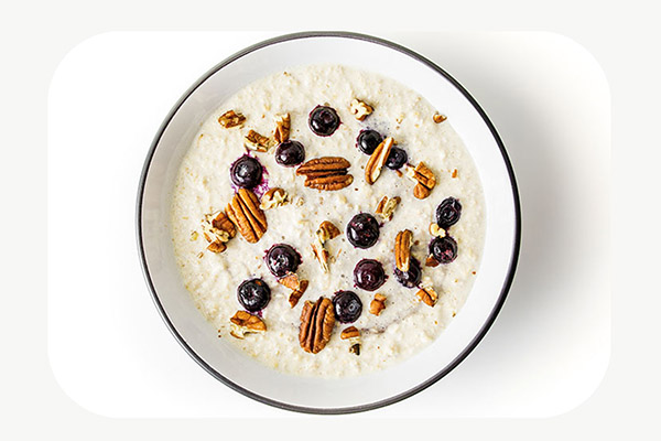 Maple and Pecan Oats with Blueberries