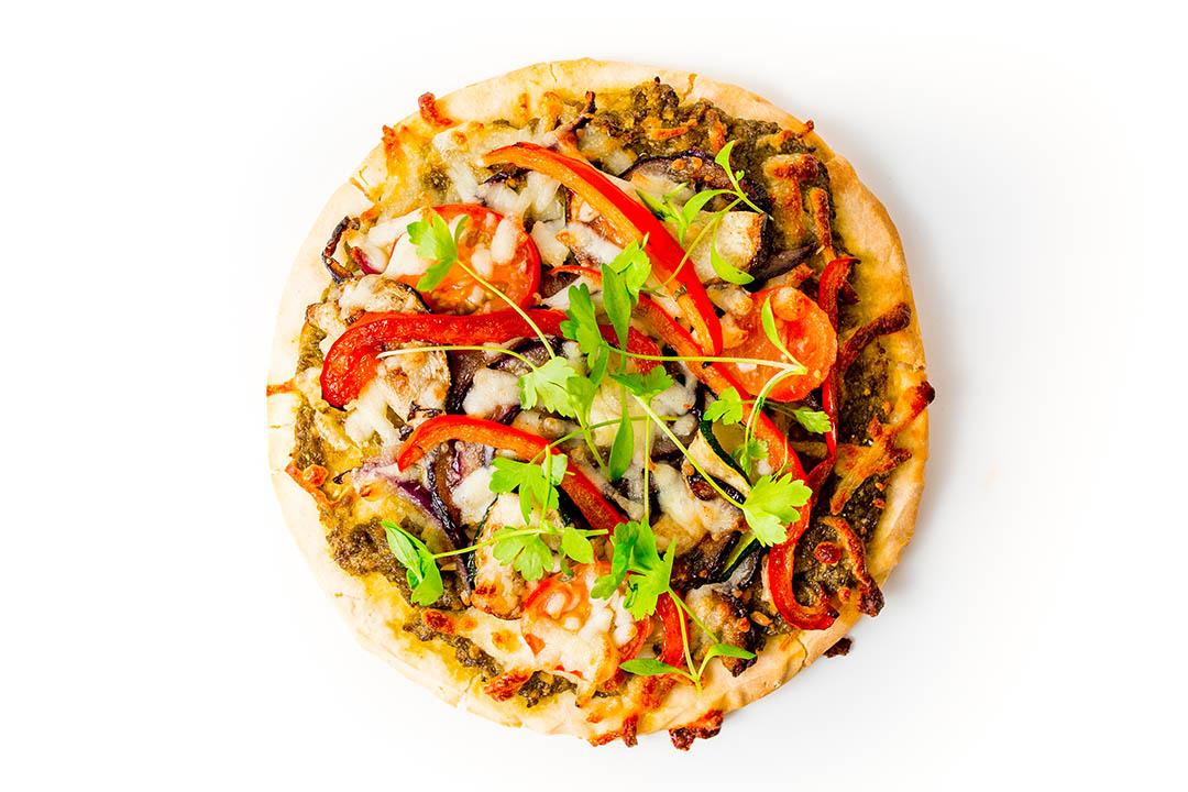 Roasted Veg Pesto Pizza