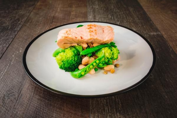 Salmon and Cannellini Bean Salad
