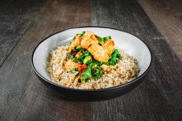 Thai Red Chicken, Kale and Brown Rice